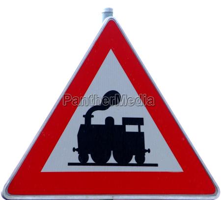 senyal tren vehiculo transporte conducir peligro