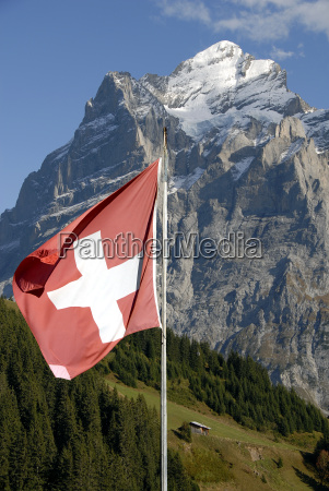 montanyas turismo alpes caminata suiza bandera
