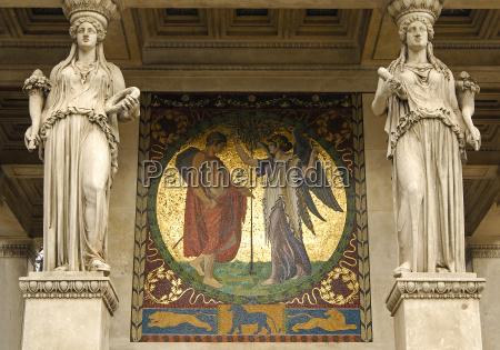 arte antigo turismo pintura dourado munique