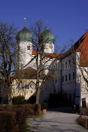 torre igreja cultura bavaria orar mosteiro