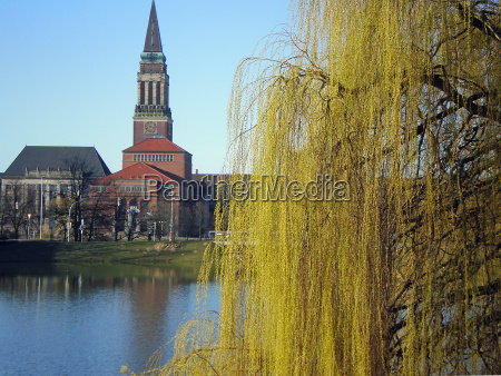kiel city hall in spring
