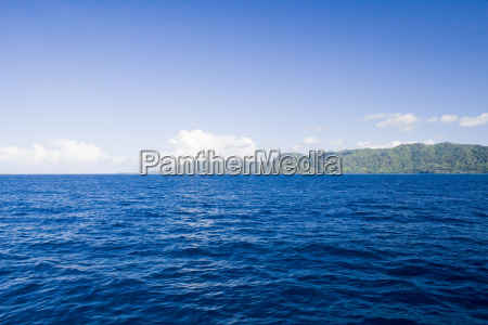 view from sea to praslin