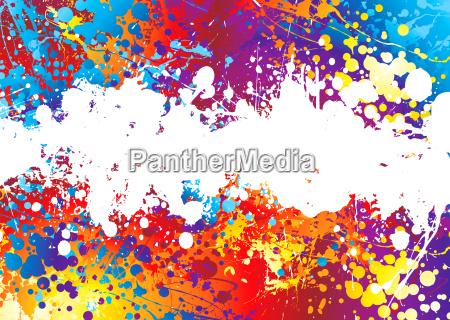tinta branca arco iris splat