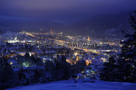 cidade inverno noite olhar vista vistoria