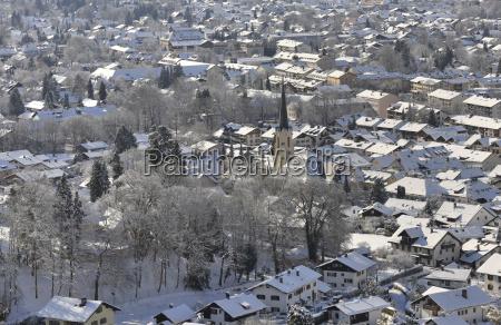 cidade inverno de neve olhar vista