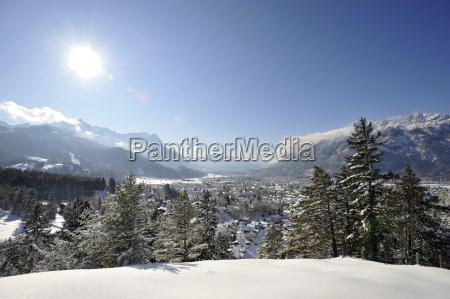 cidade inverno alpes de neve olhar