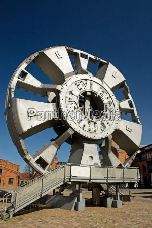 tunel museu hamburgo broca schildvortriebsmaschine elbtunnel