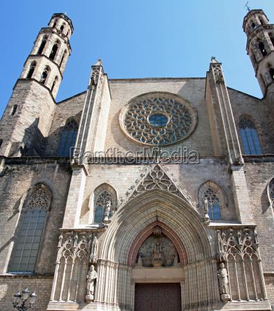 igreja catedral barcelona santa maria del
