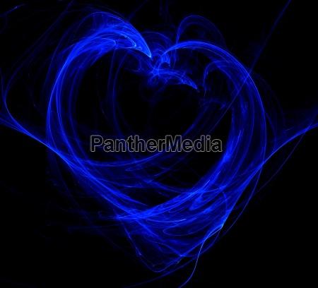 coracao azul abstrato