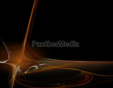 luz fluxo ondas linhas poder ilustracao