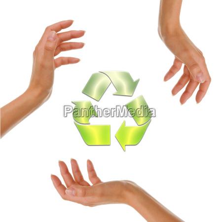 sinal mao ambiente proteger ecologia poluicao