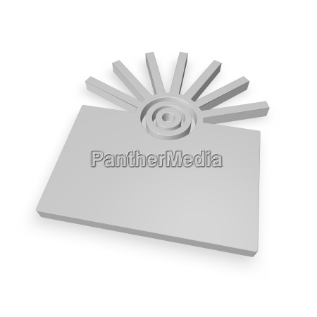 sinal ilustracao irradiar circulo abstrato aneis