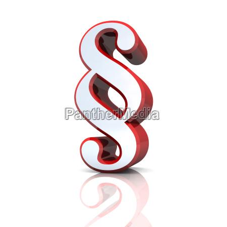 3d paragrafenzeichen silver red