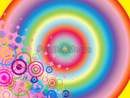 projeto colorido pontos abstrato circulos geometrico