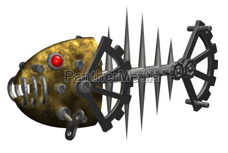 ferro metal esqueleto espinha de peixe