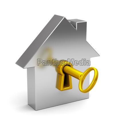 casa abstrata com chaves