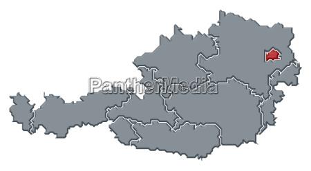 mapa de austriaviena destacado