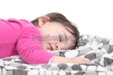 bebe que dorme em um cobertor