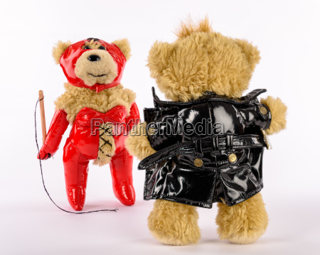 fetish teddiesdominatrix with whip and exibitionist