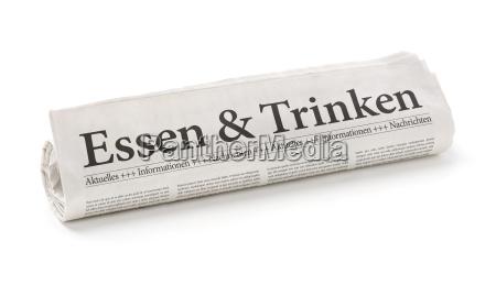 jornal tageblatt alimento beber bebida cozinheiros
