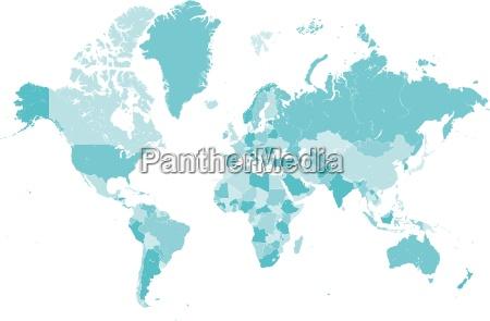 azul mapa pais globo terra fronteira
