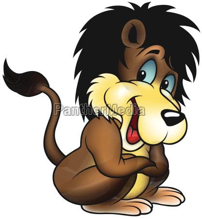 animal marron leon gato emperador rey
