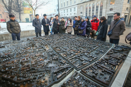 modelo em escala da cidade de