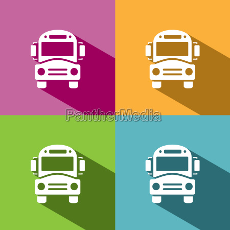 transporte ilustracion icono vehiculo autobus pictograma