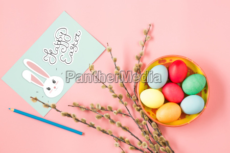 the top view of easter on