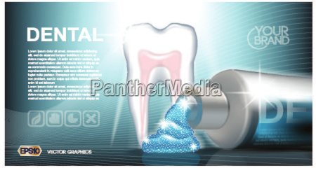 digital vector azul medicina dentifrica
