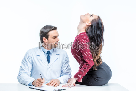 young woman and doctor