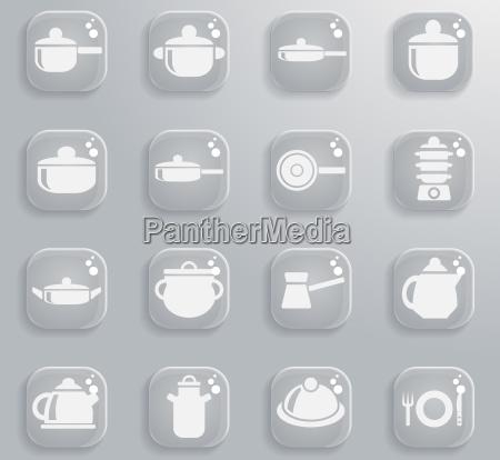 dishes icon set