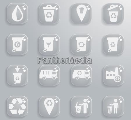 garbage icon set