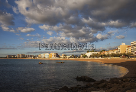 spain catalonia blanes beach and hotels
