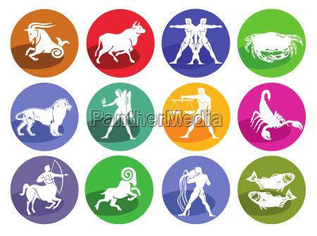 astrologia horoscopo conjunto de iconos