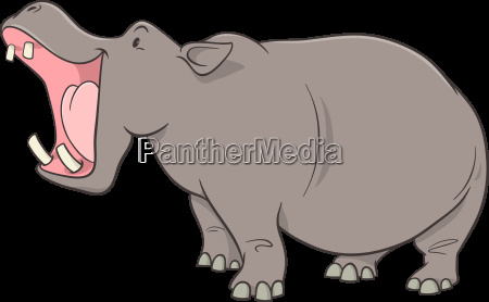 personaje de dibujos animados hippopotamus