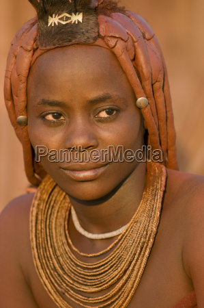 himba woman puros conservancy damaraland namibia