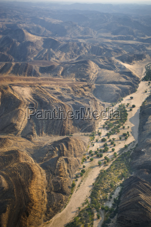 dry riverbed aerial ugab river damaraland