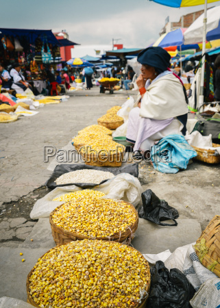 andean corn in a market in